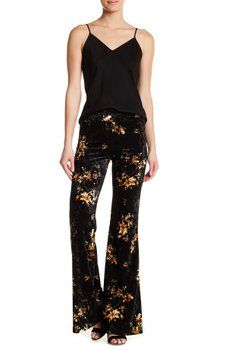 American Twist - Velvet Plazzo Pants