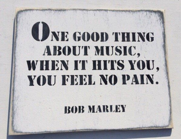 A personal favourite from my Etsy shop https://www.etsy.com/au/listing/249838126/one-good-thing-about-music-bob-marley