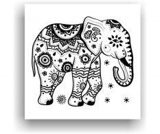 Nástěnná omalovánka Elephant God 50x50 cm