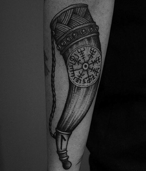 70 Viking Compass Tattoo Designs For Men Vegvisir Ink Ideas