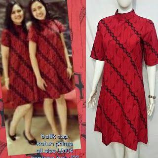 Baju Batik Kerja Wanita, Grosir Batik Solo, Baju Batik Pria: Dress Batik, Tunik Batik, Dress Modern, Tunik Mode...