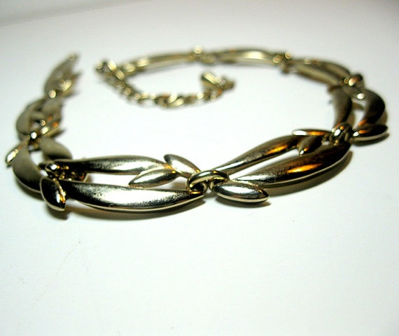 Vintage Choker necklace Monet 1950s Modern by CoconutRoad on Etsy, $14.00