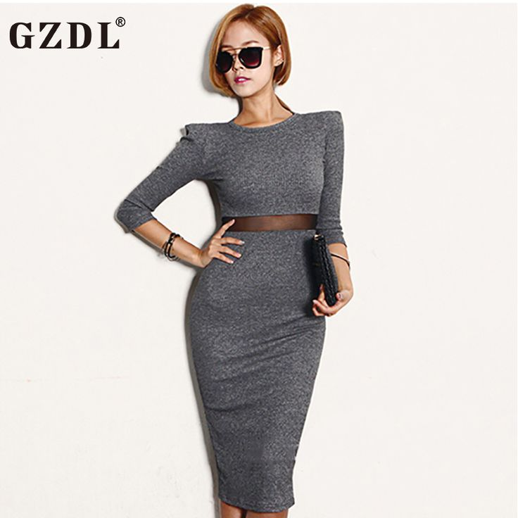 2017 New Ladies Party/Office/ Club Bodycon Dress - Long Sleeve Spring Autumn Dress //Price: $22.20 & FREE Shipping //     #hashtag1