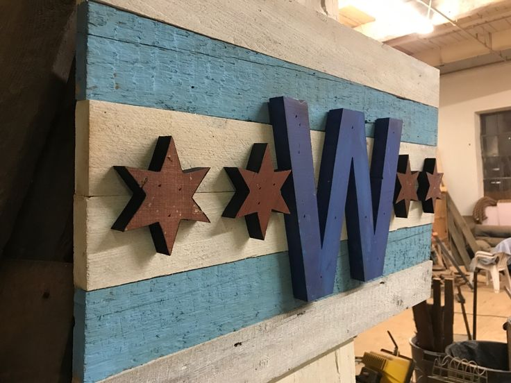 Chicago Cubs Win Reclaimed Wood Sign from belleandjune.com | wall decor  sports decor, CUBS, chicago, gifts for dad, wall decor, wood, gift guide