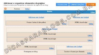 Dividir Cabeçalho do Blogger em Dois – Design do Modelo - Dicas para Blogs