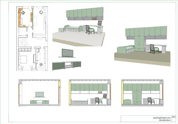 Планировка детской 2 – Архитектурная студия Grayling Design