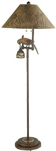 Frederick Cooper Polly By Night Floor Lamp, This designer Polly by Night floor lamp with a fabric shade and hand toned cast brass parrot with night light is a perfect addition to your tropical decor. Bronze finish. From the Frederick Cooper f..., #Tools & Hardware, #Floor Lamps