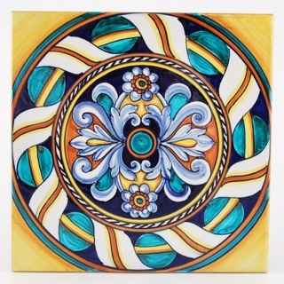 Deruta italian ceramic tiles - Tile 07