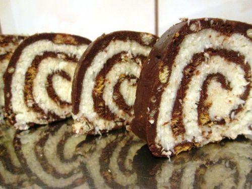 Rulada cu biscuiti,fineti si cocos - imagine 1 mare