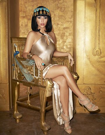 Kim Kardashian for Harpers Bazaar. ME: I love Cleopatra...but not this person! Cleopatra is now rolling in her grave! ;-D