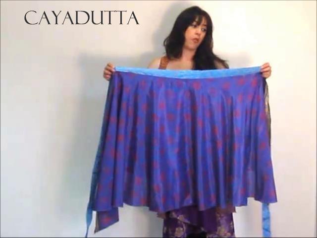 Wrap Dress How To Wear A Multi Wear Wrap Skirt by sabrina souiri. Wrap Dress How To Wear A Multi Wear Wrap Skirt from CAYADUTTA.com $36.86 Free Shipping