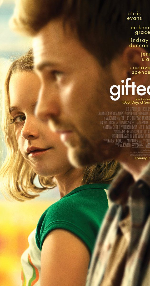 Directed by Marc Webb.  With Chris Evans, Mckenna Grace, Lindsay Duncan, Jenny Slate. Frank, a single man raising his child prodigy niece Mary, is drawn into a custody battle with his mother.
