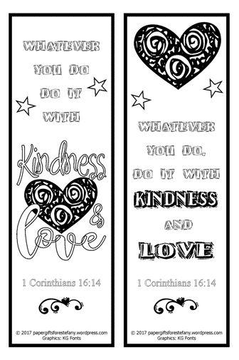 Kindness Amp Love Free Scripture Doodles Bookmarks To