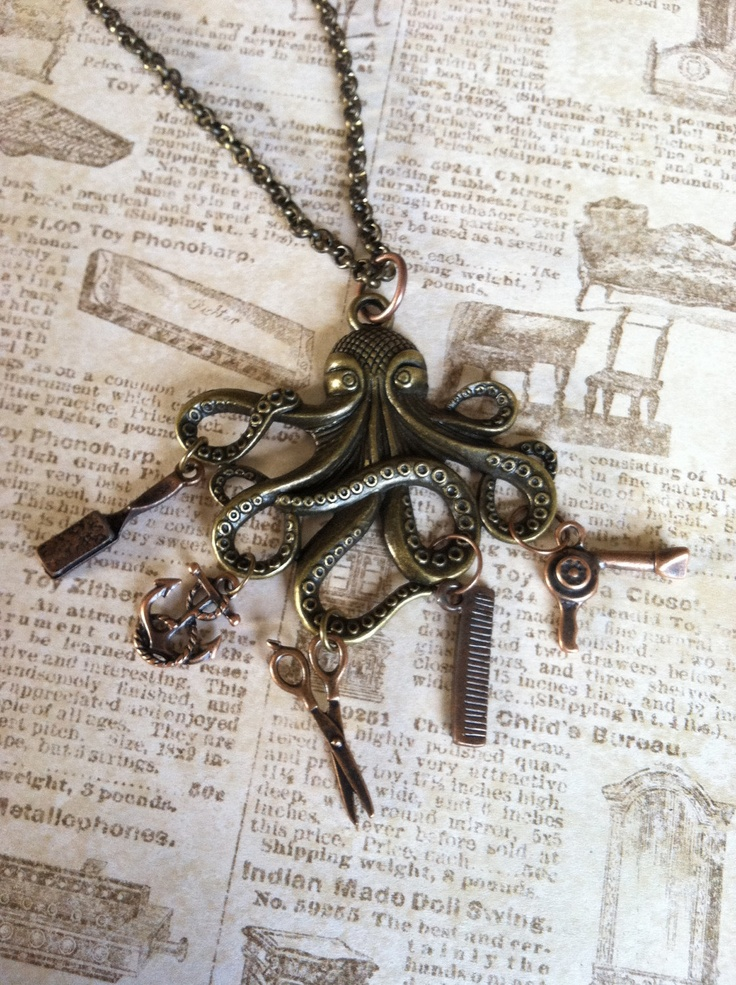 The Busy Hairdresser Octopus Necklace. $49.00, via Etsy.