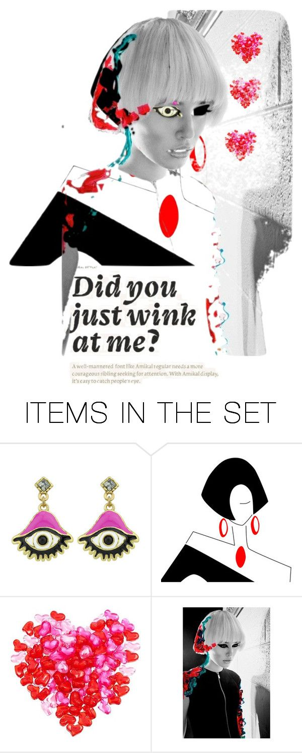 """""""Wink"""" by aqualyra ❤ liked on Polyvore featuring art"""