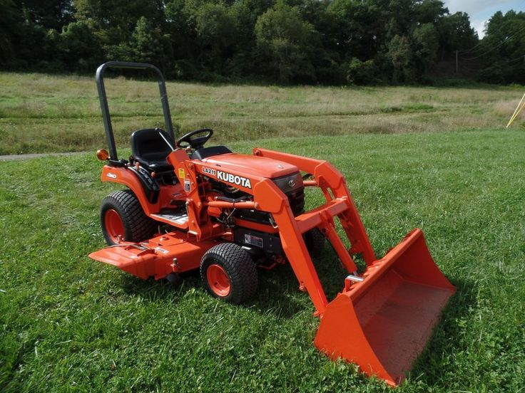 Kubota Belly Mower Decks : Kubota bx compact tractor diesel w loader belly