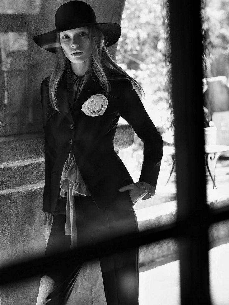 Julia Hafstrom .  Photographer: Mark Segal  .  Vogue China, July 2015