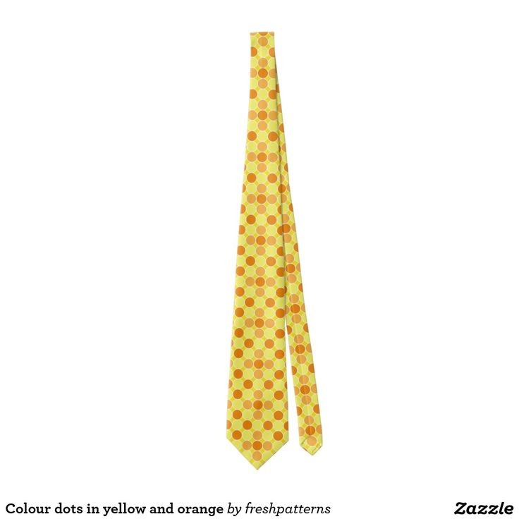 Colour dots in yellow and orange tie