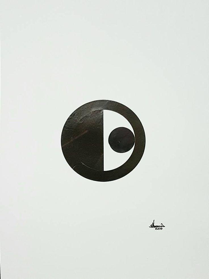 "Saatchi Art Artist Richard Brandão; Collage, ""CIRCLES Nº 022"" #art"