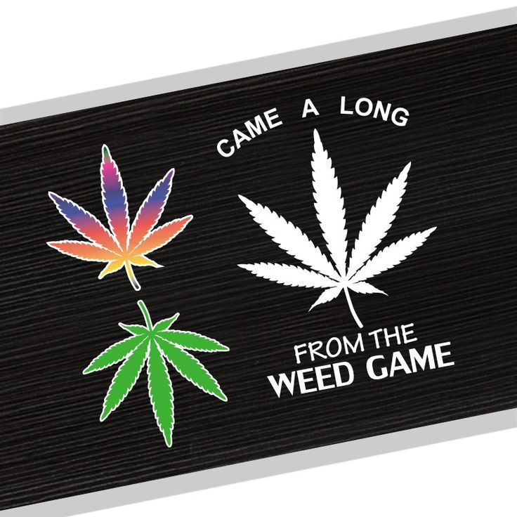 Come Along The WEED GAME Colorful Weed Leaf Car Styling Sticker //Price: $8.02 & FREE Shipping //     #cannabisjewelry