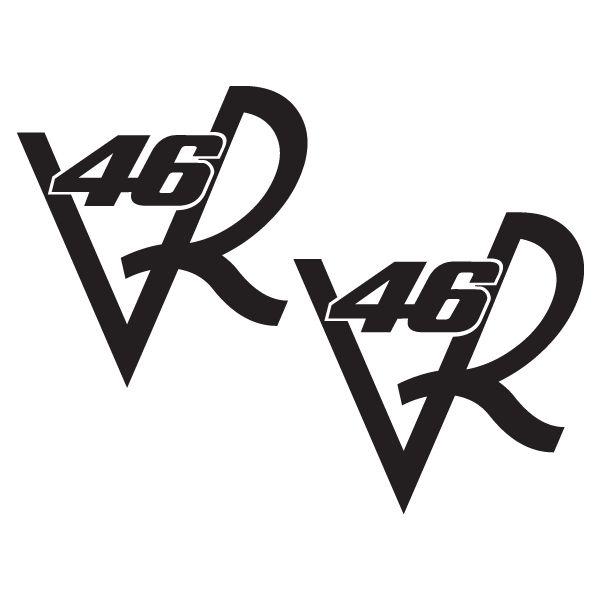 2u x Valentino Rossi VR-46 Vale Il Dottore decal vinyl sticker