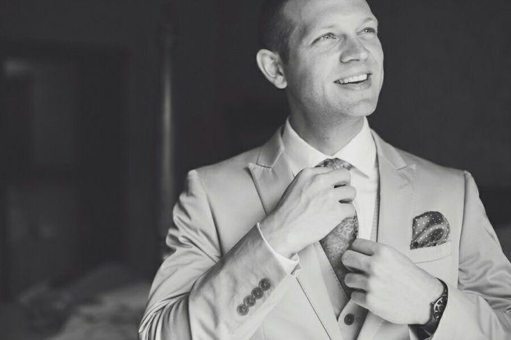 Calvin Klein Suit / Canmore Wedding @kristynhphoto