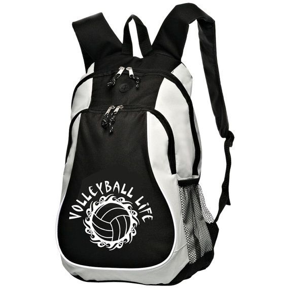 Large Sports Backpack with Volleyball Logo by StarkiesTees on Etsy