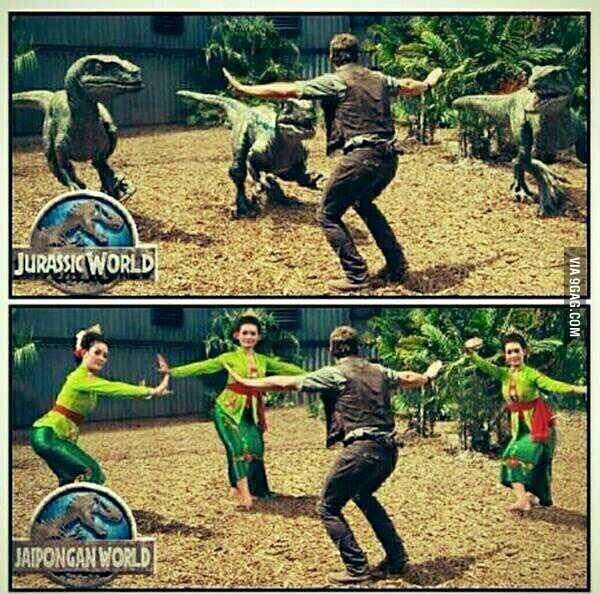 I present you... Jurassic World Cosplay with Jaipong (West Java, Indonesia. Traditional Dance) Dancer..