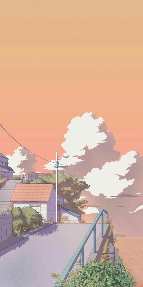 Aesthetic Animated Wallpaper In 2021 Anime Scenery Wallpaper Anime Backgrounds Wallpapers Cute Pastel Wallpaper
