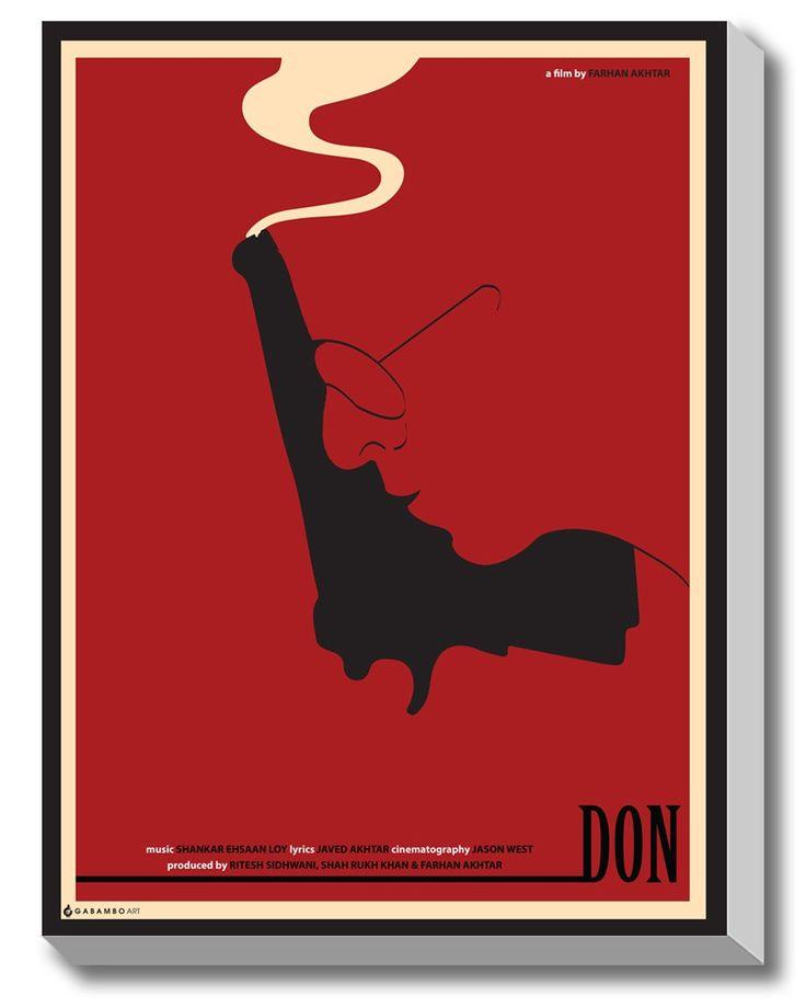 #GABAMBO. Minimal Movie Poster DON. Illusion. #Bollywood #Poster #Canvasart #SRK  Available at www.gabambo.com