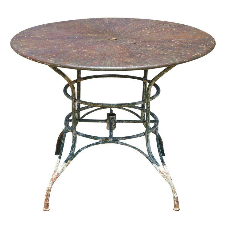 Umbrella Round Metal Garden Table. Best 25  Metal garden furniture ideas on Pinterest   DIY exterior