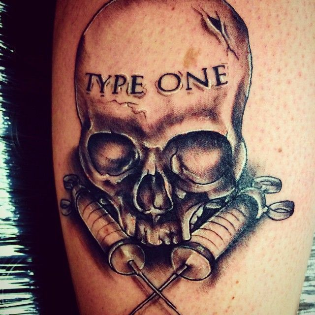 Got this on my calf today! Thanks @wassmuth90 :) a tribute to my life of living with diabetes #tattoo #tattoos #diabetes #diabetestattoo #skull #blackandgrey #typeone #skullandcrossneedles #insulindependent #erykane #art #apprentice #calftattoo #boise #thisisboise #idahotattooers