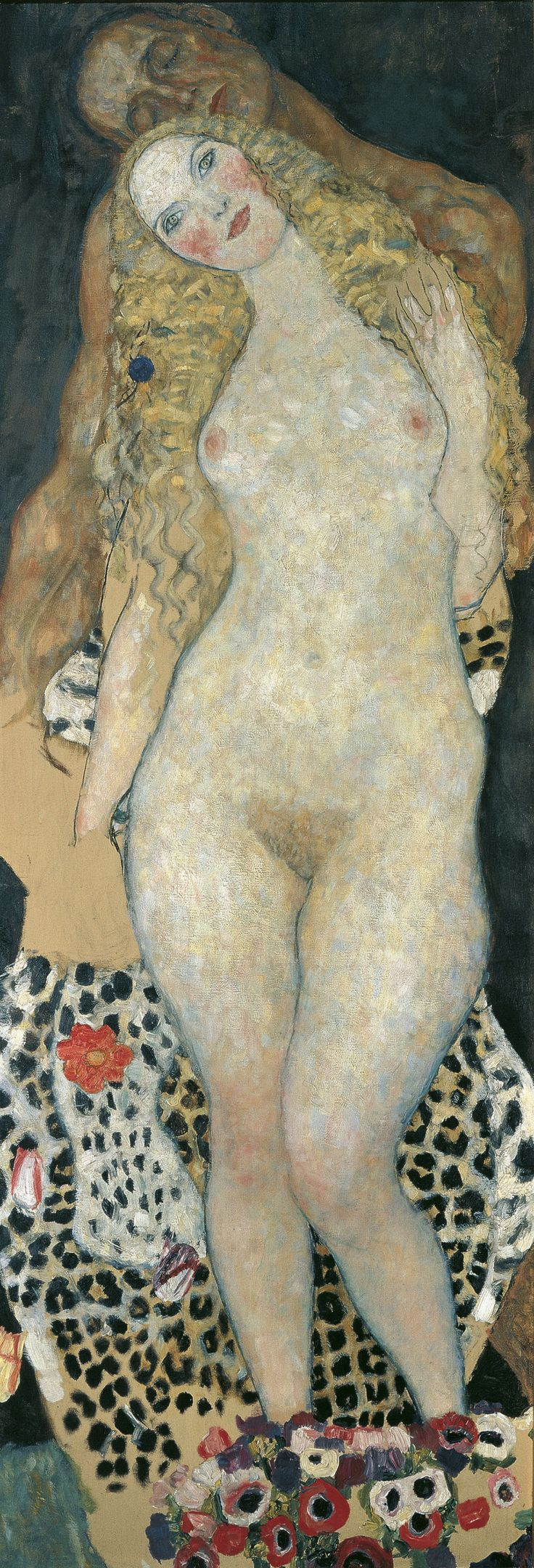 An unfinished piece by Gustav Klimt depicting biblical Adam and Eve is traveling to Boston from Vienna, Austria.