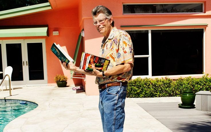 King, holding a copy of his new novel, 'Joyland,' was photographed in April on his property in Florida. (Michael Edwards)