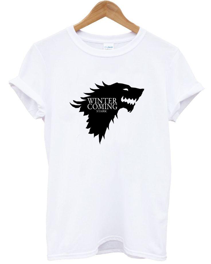 Aliexpress.com: Comprar Envío gratis Hip Hop juego de tronos se acerca el invierno camisetas Casual hombres camiseta camisa impreso Mens Tops venta al por mayor hombre ropa de vestidos de camisetas para el trabajo fiable proveedores en Fashion Import and Export Co., Ltd. Online Store 434075
