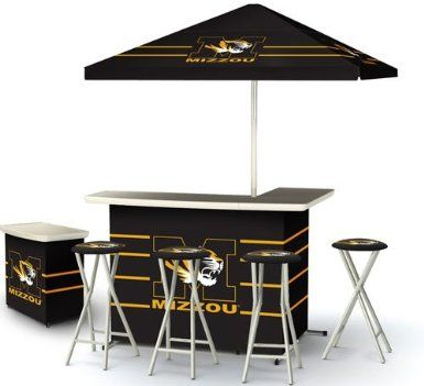 Amazon Missouri Tigers College Portable Bar Stools and Table Sports Outdoors