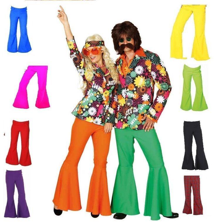 70er 80er Jahre Schlaghose Damen Herren Hose Kostüm Flowerpower Hippie Hippy  | eBay