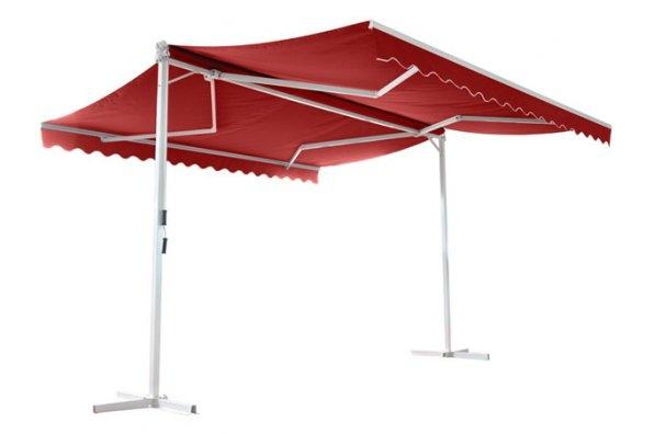 Store double pente PAPILLON Bordeau Uni, Ce store vous permettra de profiter pleinement de votre terrasse à l'abri du soleil pendant la journée et de protéger votre intérieur de la chaleur. A partir de 479Euros TTC Livré, Exite en 3 dimensions: 4mX4m, 4mX5m, 4mX6m. Profitez-en sur UnsiRama.com