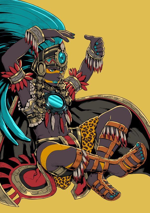 Tezcatlipoca from the Azteca mythology by Yukke