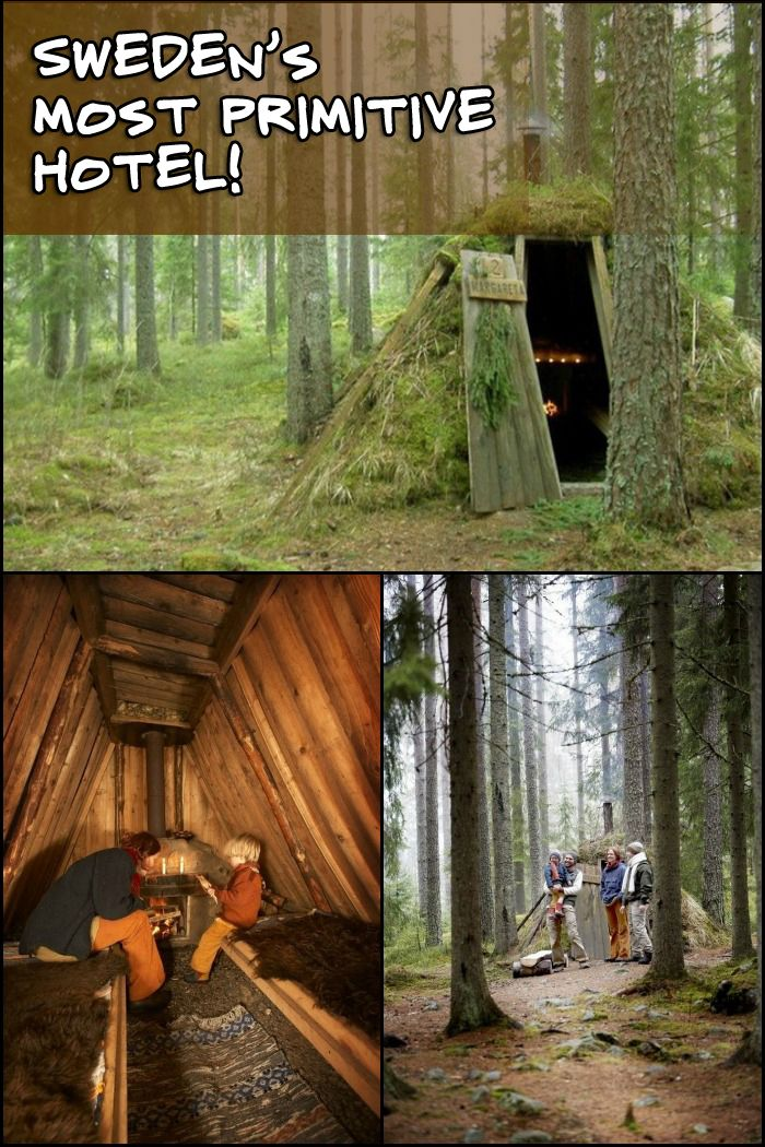 Take a tour of STF Kolarbyn - Sweden's most primitive hotel! Would you spend your weekend here?