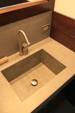 Concrete bathroom sink - contemporary - bathroom sinks - new york - by Concrete Shop