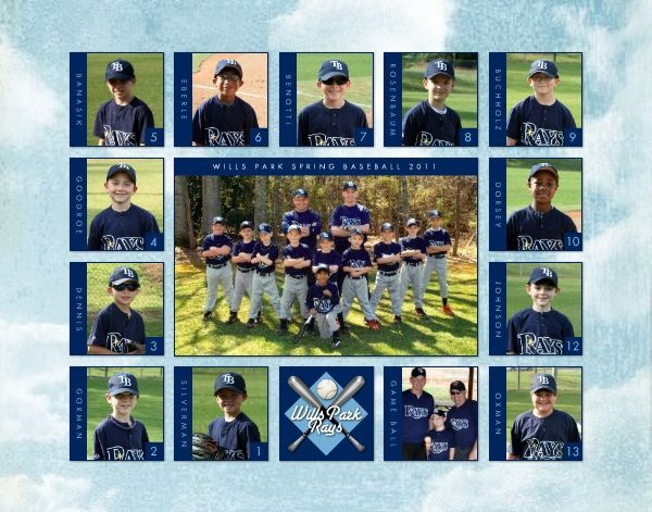 HM Baseball Team Print  designed by: Roxanne Buchholz  14x11 Poster  Template ID: 63469