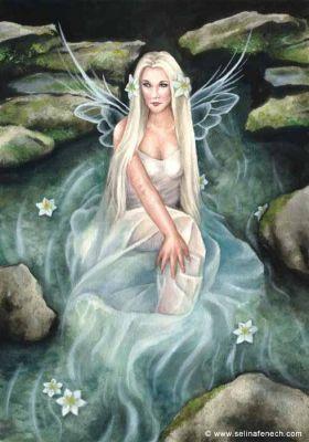 Selina Fenech Art | faerie fae fairy faery Stream Lily©Selina FenechStream Lily©