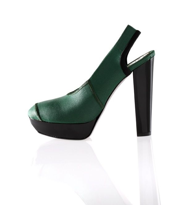 Judari elastic futuristic high heel shoe