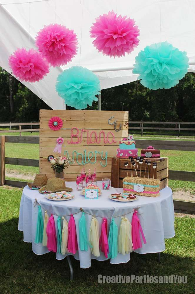 Amazing dessert table from a cowgirl birthday party! See more party ideas at CatchMyParty.com!