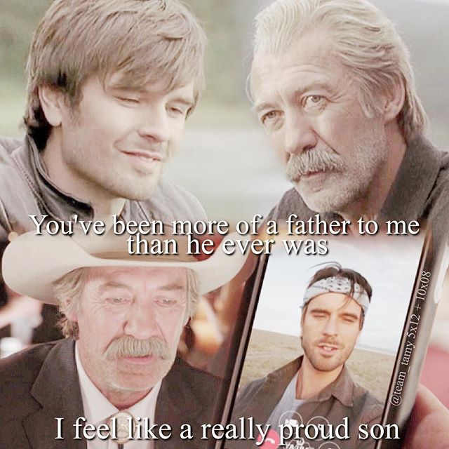 I just LOVE their relationship! Goodnight my beautiful Heartlanders! #heartland #heartlandoncbc #iloveheartland #grahamwardle #shaunjohnston #tyborden #jackbartlett #cowboy #cbc #canada #love