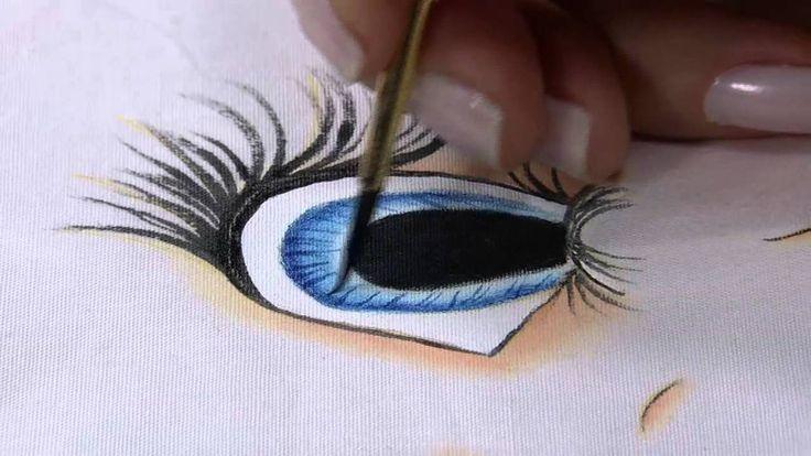 Mulher.com 04/07/2014 Bete Alcantra - Pintura tecido rosto de boneca Par...