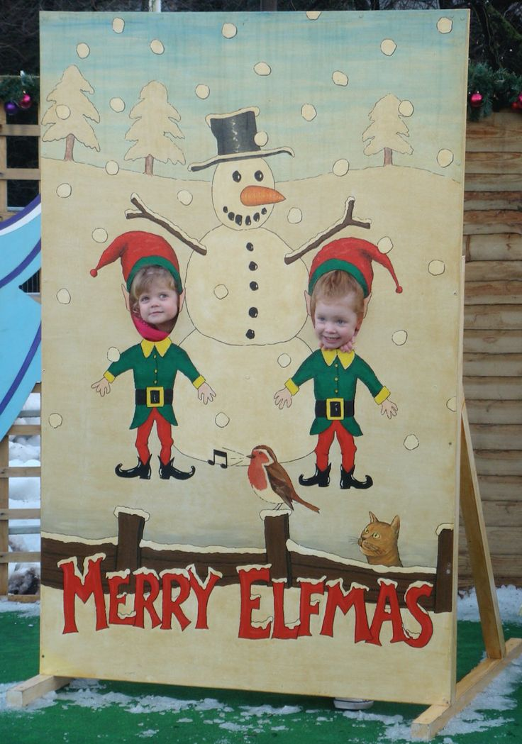 Christmas Cardboard photo cut outs for hire London / UK More
