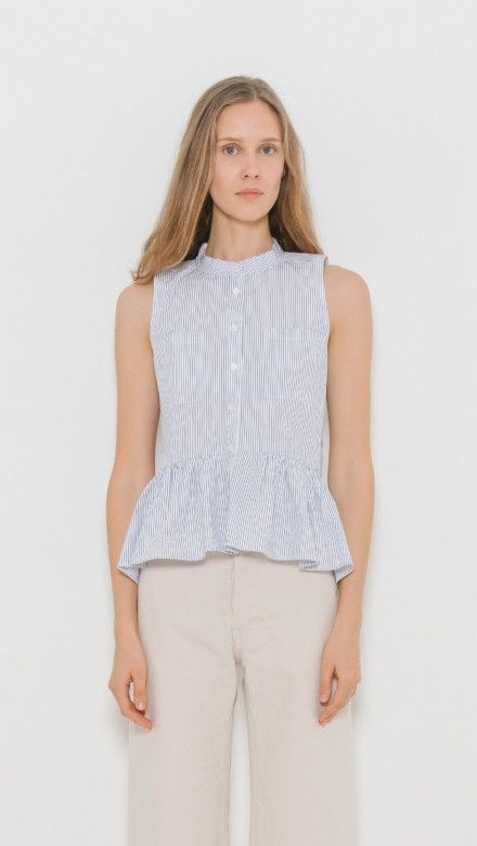 Stripe Peplum Top by Sea NY