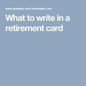 17 Best ideas about Retirement Card Messages on Pinterest ...